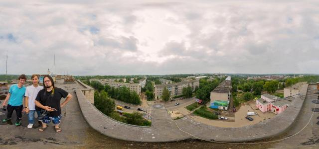 Panorama on the roof