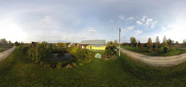 In front of the house | Unnamed Road, Vologda Region., Russia, 162580 | 360° panorama, virtual 3D/VR tour | Nikolaj Golovkin | TrueVitualTours